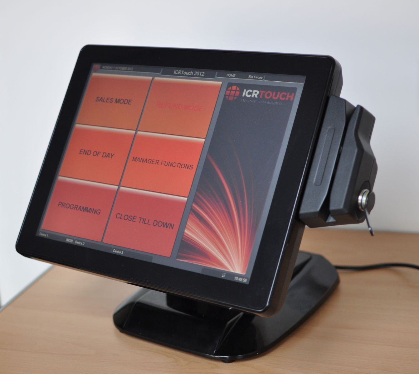 Clientron pt6000 EPoS Touchscreen terminal with magnetic card reader and ibutton