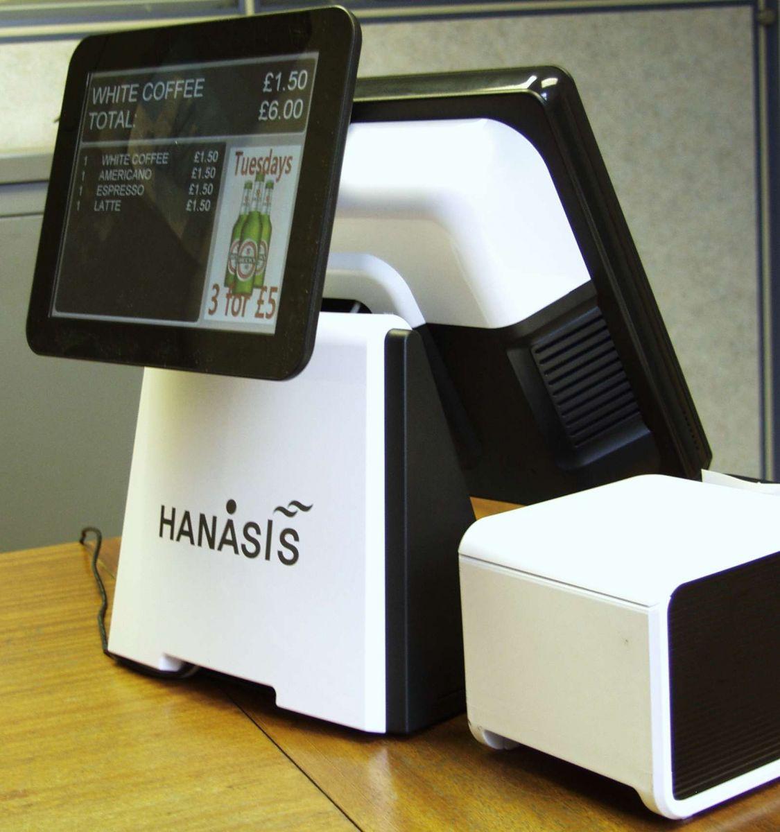 Hanasis Nizon with a nice big customer facing display