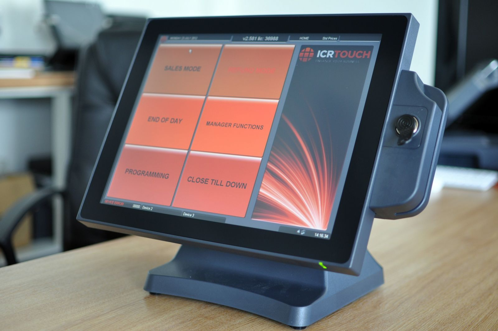 J2 580 EPoS Terminal with iButton and Magnetic Card Reader