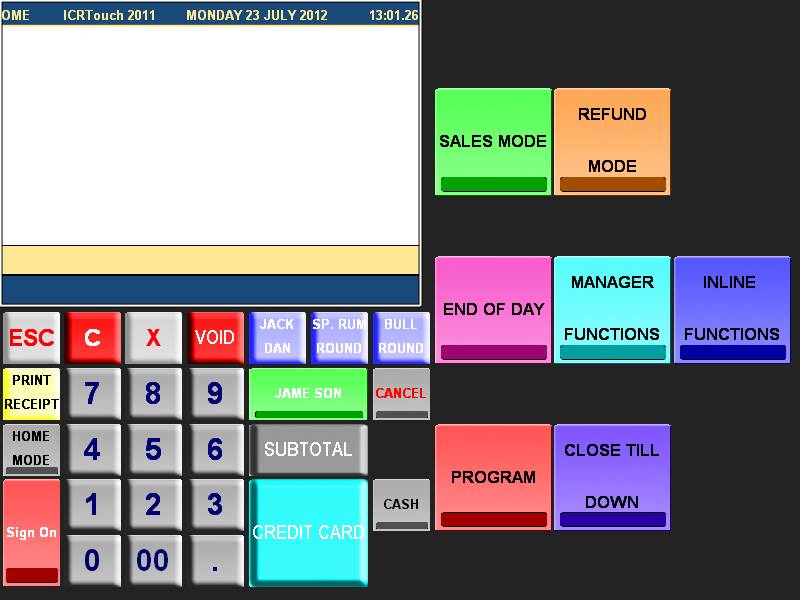 Casio QT6000 skin for ICRTouch by Tillcomm Software