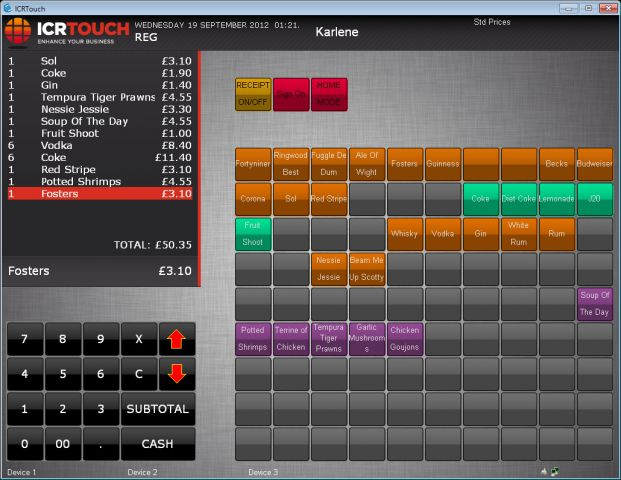 Example ICRTouch Skin for TouchPoint
