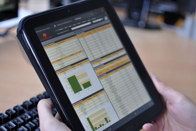 TouchOfficeWeb on an Android Tablet