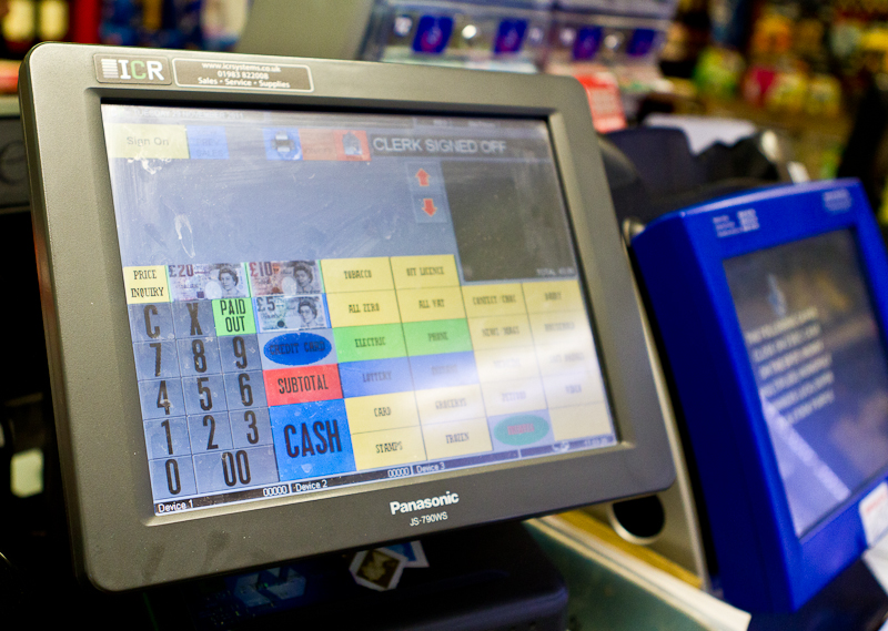 Panasonic touch screen till system